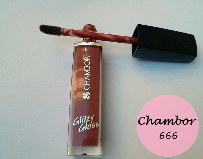 Chambor Glitzy Gloss Intense 666 Lipgloss: Review and Swatches
